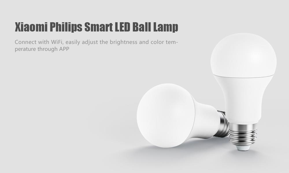 NEW Original Xiaomi Philips Smart LED Bulb Lamp WiFi Remote Control Mijia E27 Bulb mi Home APP adjust luminance CCT  (4)